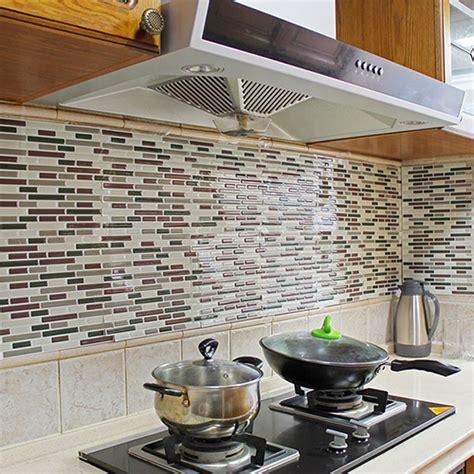 kitchen backsplash wall decals 4pcs home decor 3d tile pattern kitchen backsplash 5082