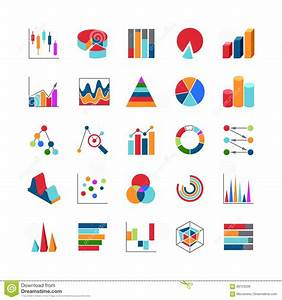 Market Trends Business Data Charts Icons  Stats Money Graphs And Bar Simple Vector Symbols Stock