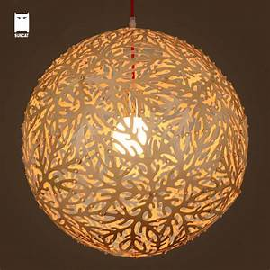 Boule De Lumiere : bois boule de corail pendentif lumi re cordon luminaire moderne japonais rustique style ~ Teatrodelosmanantiales.com Idées de Décoration