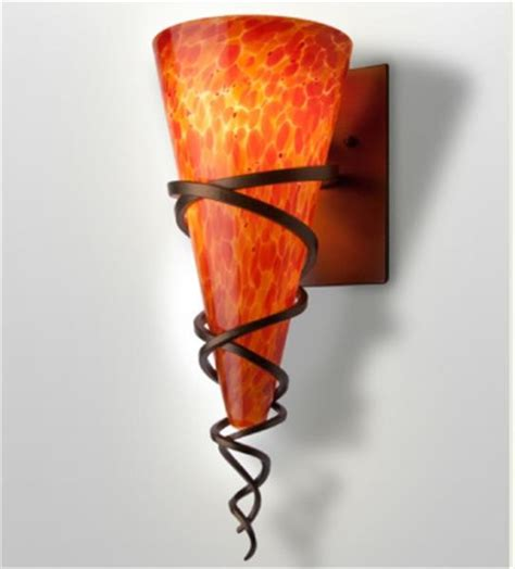 tuscany blown glass wall sconce contemporary wall