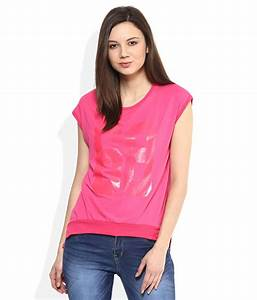 Deal Jeans Pink Printed Top Deal Jeans Pink female available at SnapDeal for Rs.594