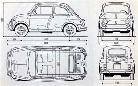 Fiat Dimensions by Dimensions Of Fiat 500 сars