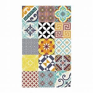 Tapis Vinyle Sol : tapis de sol en vinyle electric multicolore 60x97cm ~ Premium-room.com Idées de Décoration