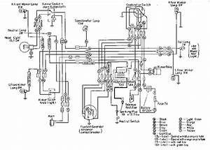 Honda C100 Wiring Diagram  61687