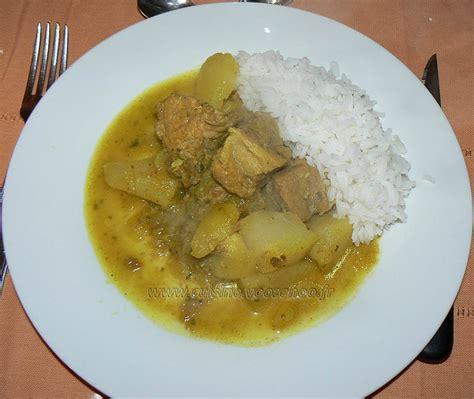 une cuisine pour voozenoo colombo de porc une cuisine pour voozenoo