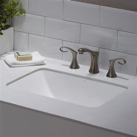 small rectangular undermount bathroom sink ceramic sink kraususa