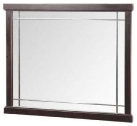 Traditional Bathroom Mirror by Foremost Zen 24 Inch Mirror In Espresso Finish