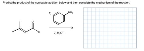 Solved Predict The Product Of The Conjugate Addition Belo