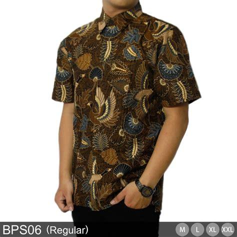 jual kemeja lengan pendek batik pria reguler baju batik modern baju atasan fashion kain batik