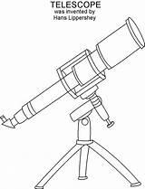 Telescope Drawing Getdrawings sketch template