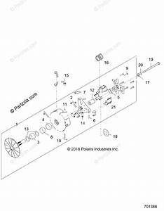 Polaris Side By Side 2017 Oem Parts Diagram For Drive Train  Primary Clutch