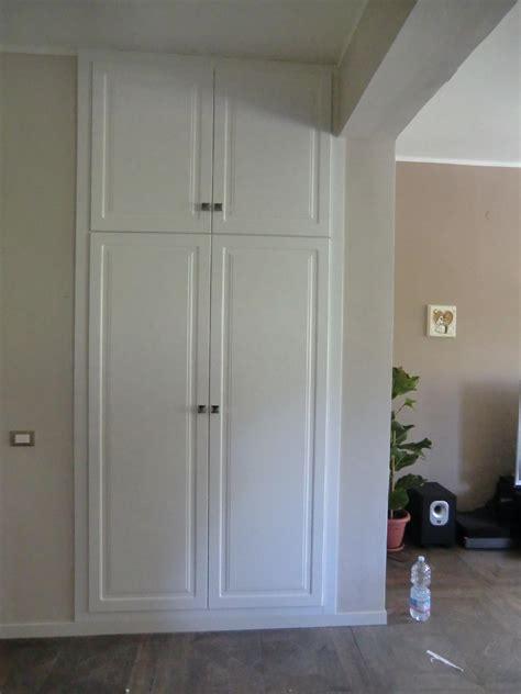 guardaroba a muro armadio a muro in tulipier laccato bianco palermo
