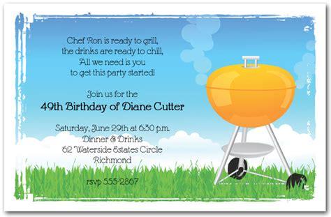 Orange Barbeque Grill  Ee  Invitation Ee   Bbq Invitations