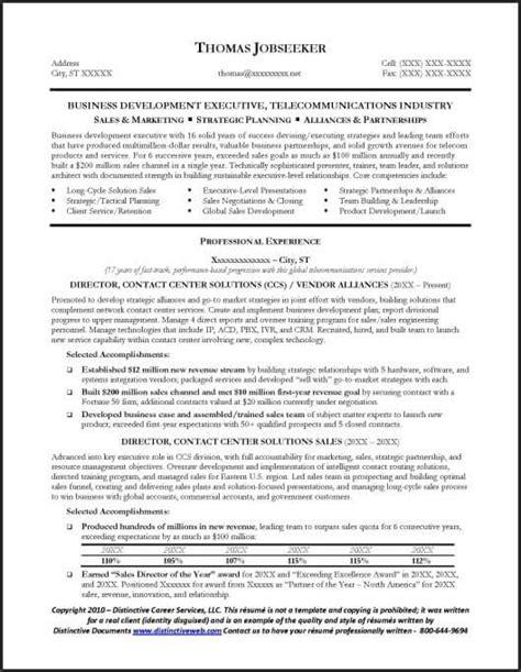 sample telecommunications executive resume  abu