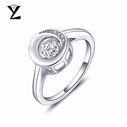 Silver Jewelry Rings Diamond Sterling Dancing Engagement