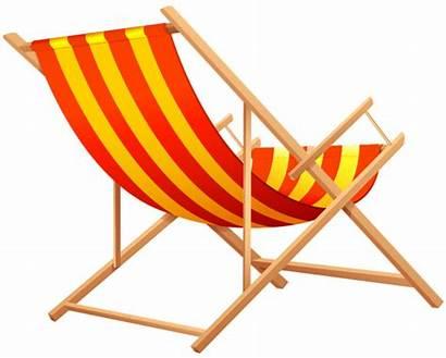 Chair Beach Transparent Clipart Lounge Summer Clip