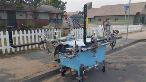gas station mobile pipefitter work station pipe fitting tools