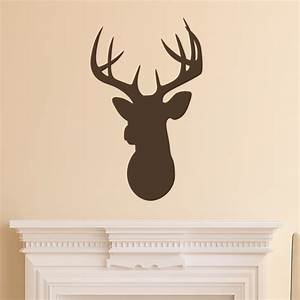 Deer head silhouette wall quotes art decal