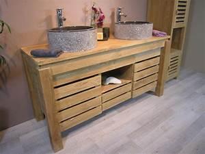 meuble salle de bain bois ancien fabulous ambiance de la With awesome meuble sous lavabo ancien 16 meuble vasque salle de bain retro