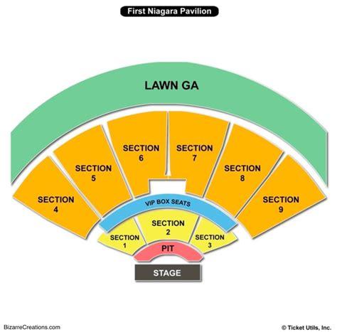 keybank pavilion seating chart seating charts