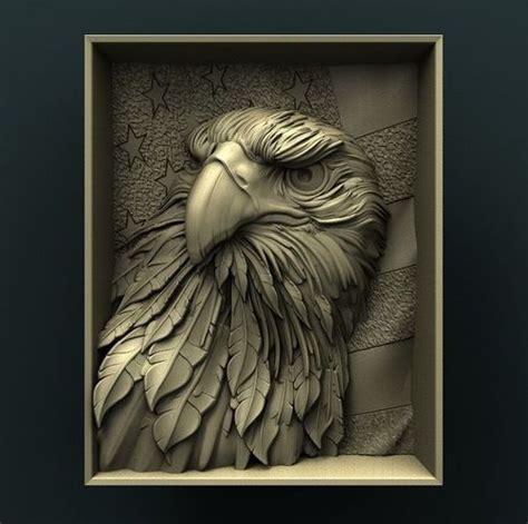 american eagle  stl model  cnc  print model