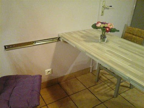 table coulissante cuisine table de cuisine a fixer au mur valdiz