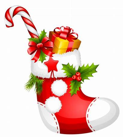 Christmas Stocking Candy Clipart Cane Transparent Yopriceville