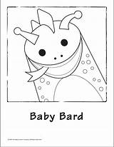 Baby Coloring Einstein Bard Pages Printable Template Library Clipart sketch template