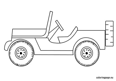 jeep coloring coloring page