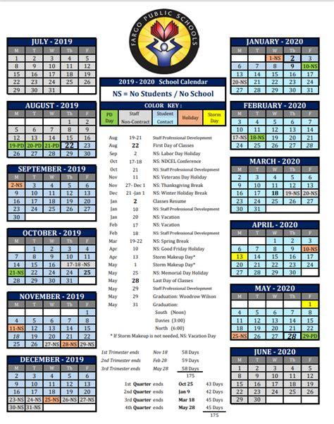 school board approved school calendar fargo