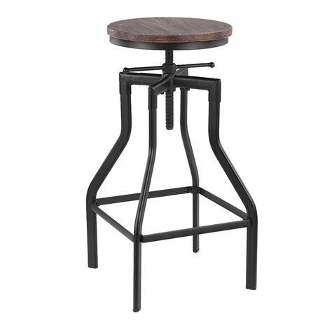 tabouret bois reglable en hauteur tabouret de bar pivotant r 233 glable en hauteur ikayaa style industriel chaise 224 manger en sapin