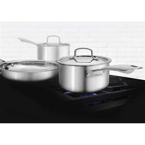 cuisinart  piece professional series  ply stainless steel cookware set walmart canada