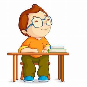 Cuadro en Lienzo Ilustración vectorial de niño de escuela ...