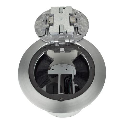 Fsr Smartfit Floor Boxes by Fsr Inc Smartfit 6 6 Poke Thru Floor Box With Brushed