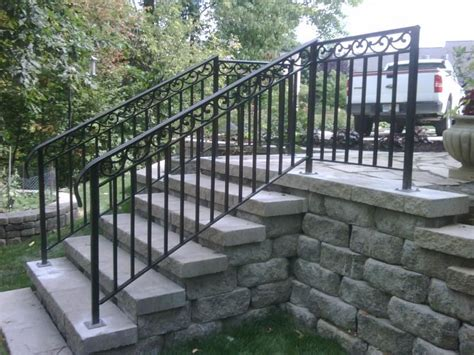 Marvelous Railings For Outdoor Stairs #11 Wrought Iron