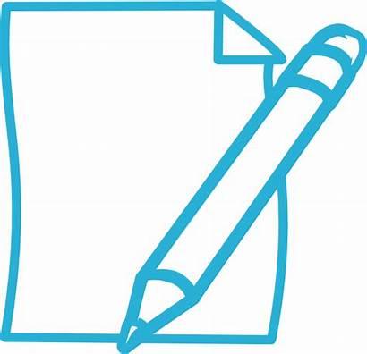Pencil Paper Clipart Clip Plan Cliparts Statement