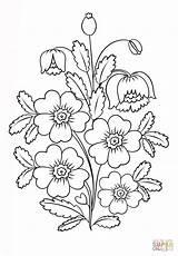 Coloring Flowers Petrykivka Blumen Malerei Sel Printable Malvorlagen Kleurplaat Drawing Supercoloring Ausmalbilder Blogx Dibujos Flores Drawings Disegni Kleurplaten Colorare Aus sketch template