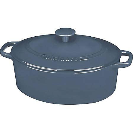 cuisinart chefs classic ci bg casserole  quart sauce pot cast iron oven safe office depot