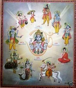 The Ten Avatars Of Vishnu | Vishnu surrounded by his ...