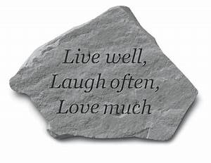 Live Laugh Often Love Much : live well garden stone inspirational garden stones ~ Markanthonyermac.com Haus und Dekorationen