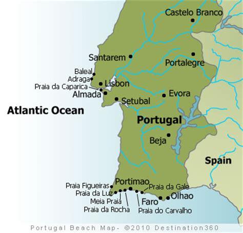 Portugal Karte Strände