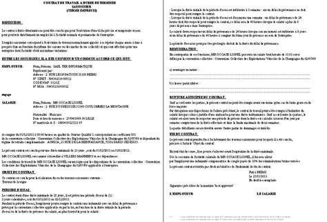 contrat de travail cadre contrat de travail cadre lettre de motivation 2018