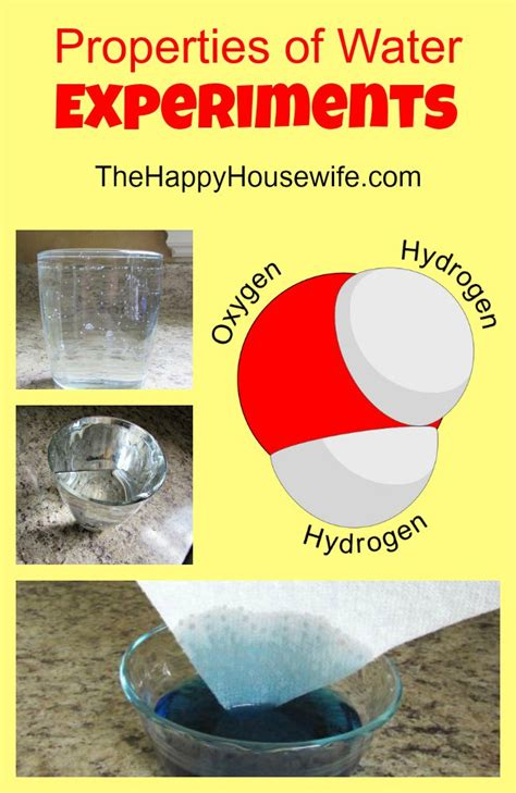 Properties Of Water Experiments  The Happy Housewife™  Home Schooling