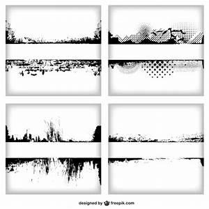 Grunge frame set Vector | Free Download