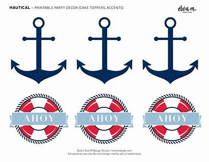 Nautical Shower Printables Birthday Party Boy Catchmyparty