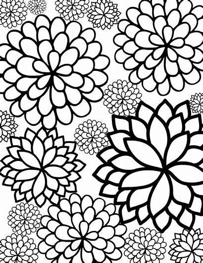 Coloring Flower Printable Bursting Blossoms Sheet Sheets