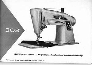 Singer 503 Sewing Machine Instruction Manual Pdf