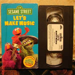 Sesame Street Let Make Music VHS
