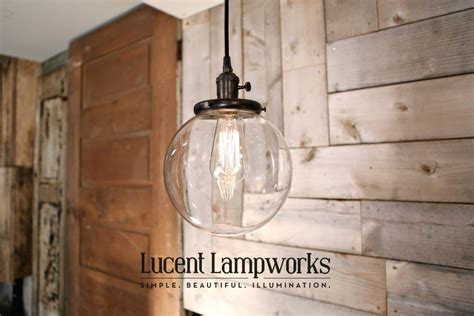 hanging pendant light fixture with 8 glass by lucentlworks
