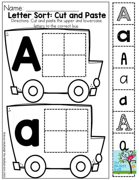 Cut And Paste Letter Recognition In Different Fonts  Preschool  Pinterest Fonts